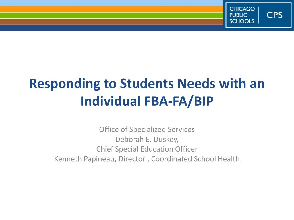 responding to students needs with an individual fba fa bip l.