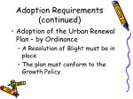 adoption requirements continued