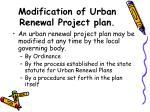modification of urban renewal project plan
