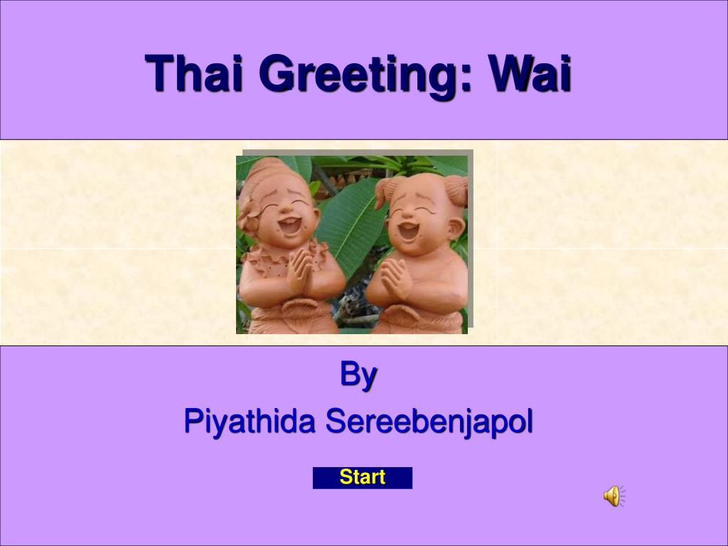 thai greeting wai l.