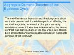 aggregate demand theories of the business cycle27