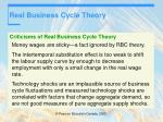 real business cycle theory42