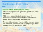 real business cycle theory43