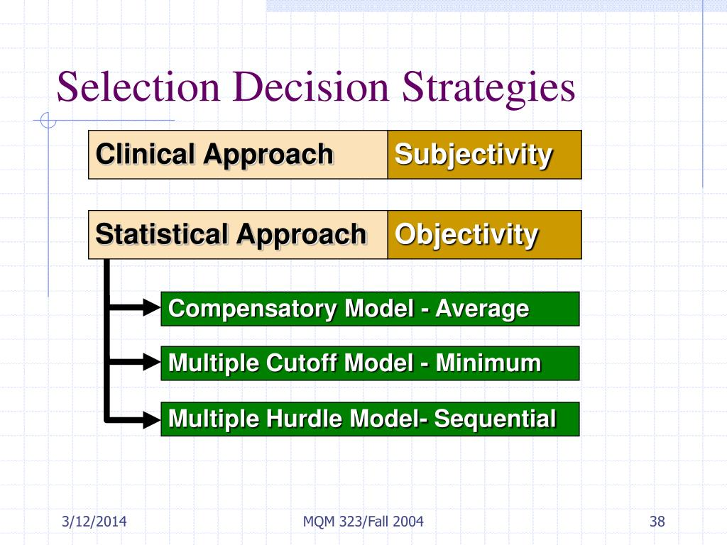 selection decision