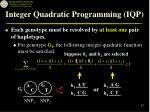 integer quadratic programming iqp17