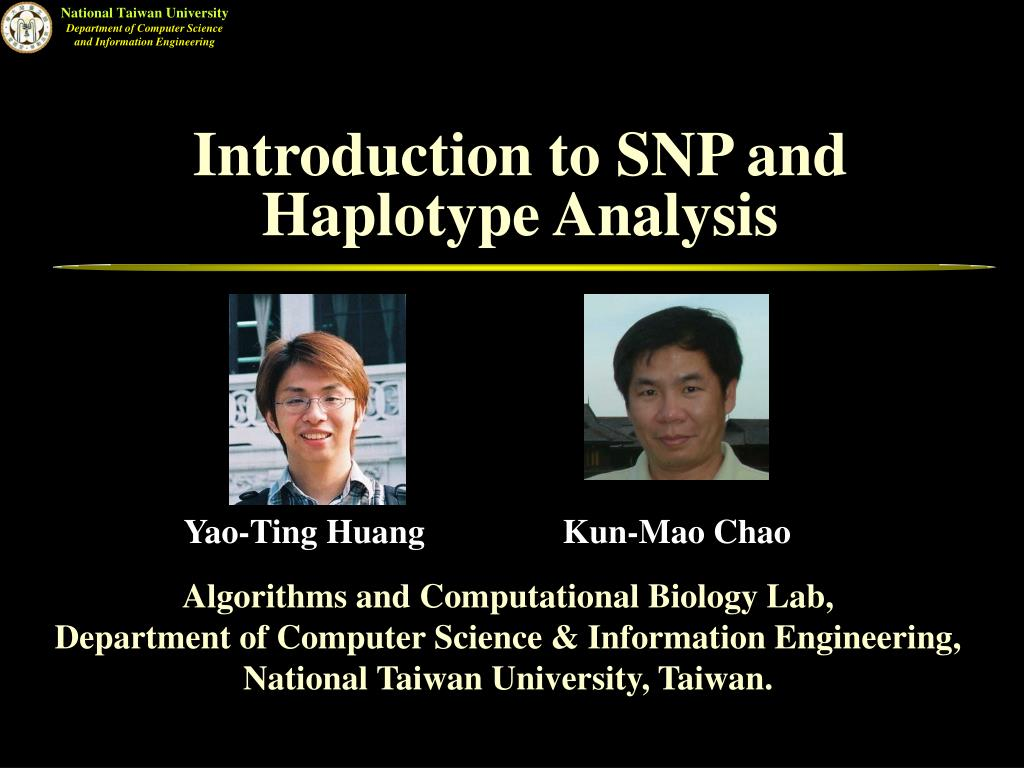 introduction to snp and haplotype analysis l.