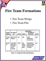 fire team formations