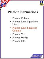 platoon formations19