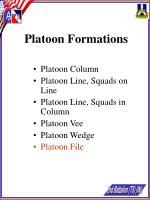 platoon formations25