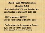 2010 fcat mathematics grades 3 10