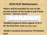 2010 fcat mathematics