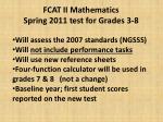 fcat ii mathematics spring 2011 test for grades 3 8
