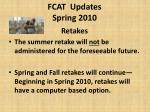fcat updates spring 2010