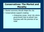 conservatives the market and morality
