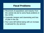 fiscal problems