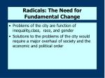 radicals the need for fundamental change