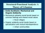 structural functional analysis a theory of urbanism24