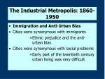 the industrial metropolis 1860 19505