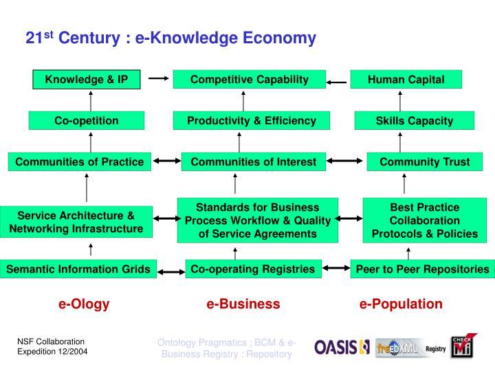 21 st century e knowledge economy