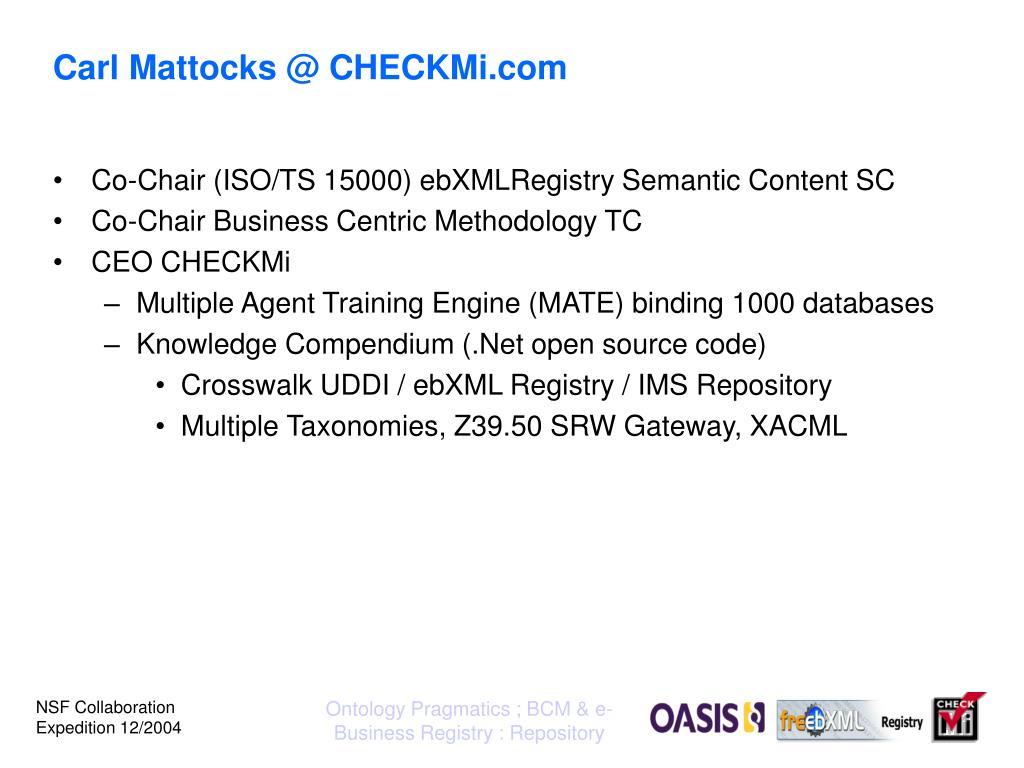 Carl Mattocks @ CHECKMi.com