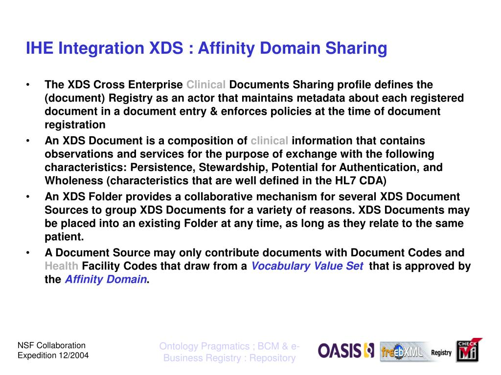 IHE Integration XDS : Affinity Domain Sharing