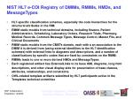 nist hl7 e coi registry of dmims rmims hmds and messagetypes