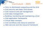 curriculum 2005