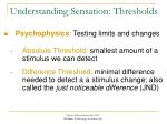 understanding sensation thresholds
