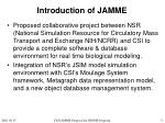 introduction of jamme