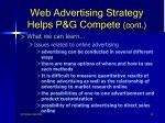 web advertising strategy helps p g compete cont10