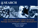 case studies on information exchange package documentation iepd development36