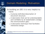domain modeling motivation