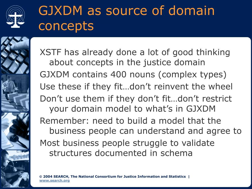GJXDM as source of domain concepts