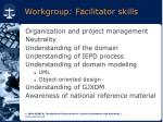 workgroup facilitator skills