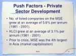 push factors private sector development