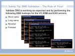 safety tip dns validation the rule of four