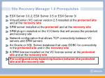 site recovery manager 1 0 prerequisites