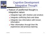 cognitive development integrative thought