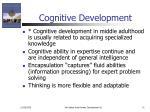 cognitive development31