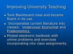 improving university teaching