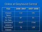 online at greyhound central