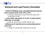 demand and load factors simulated