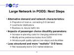 large network in pods next steps