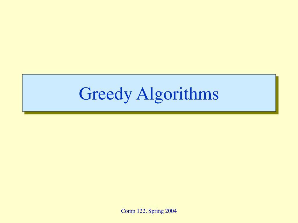 greedy algorithms l.