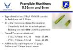 frangible munitions 5 56mm and 9mm