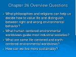 chapter 26 overview questions