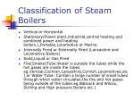 classification of steam boilers