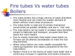 fire tubes vs water tubes boilers