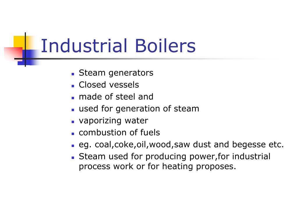 industrial boilers l.
