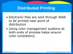 distributed printing